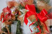 Prua su una ghirlanda di Natale — Foto Stock