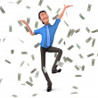 businessman dancing — Stock Photo