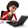 Businesswoman with Laptop — Stock Photo #36307979