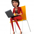 Businesswoman with Laptop — Photo