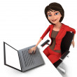 Stock Photo: Businesswoman with Laptop