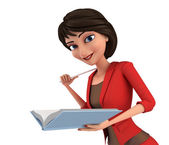 Businesswoman lecturing — Stock Photo