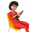 Businesswoman with a tablet pc — Stock Photo #36382749