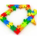 House puzzles — Stock Photo #36816035