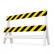 Black and yellow barrier — Stock Photo
