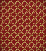 Retro textile with golden flowers — Foto Stock