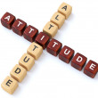 Attitude and Altitude crosswords — Stock Photo