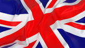 Majestic Glossy UK Flag — Stock Photo