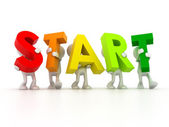 Team forming START word — Stock Photo