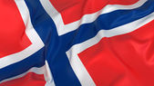 Majestic Flag of Norway — Stock Photo