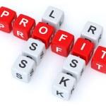 Profit loss Risk crosswords — Stock Photo #50721679