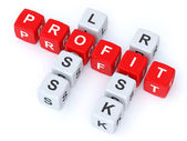 Profit loss Risk crosswords — Stock Photo