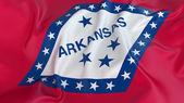 Arkansas Flag — Stock Photo