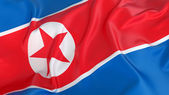 Bandeira da coreia do norte — Foto Stock