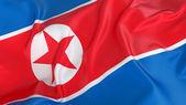 Flaga korei północnej — Zdjęcie stockowe