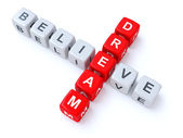 Dream and Believe crosswords — Foto Stock