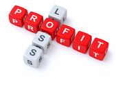 Profit loss crosswords — Stock Photo