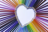 Heart Colored Pencils — Stock Photo