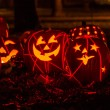 Lighted Halloween Pumpkins — Stok fotoğraf #33674265