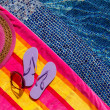 Flip Flops by the Pool — Stock Photo #33673343