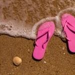 Flip Flops in the water — Stock Photo