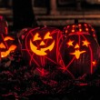 Lighted Halloween Pumpkins — Stock Photo #33674355