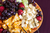 Vegetable and Cheese Plate — Stock Photo