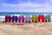 Rainbow Flip Flops — Stock Photo