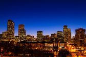 Denver Skyline at Blue Hour Mar 2013 — Stock Photo