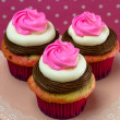 Neapolitan Cupcakes — Stock Photo
