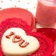 Valentine Decorated Cookies — Stockfoto