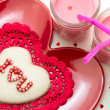 Valentine Decorated Cookies — Stock Photo #33712577