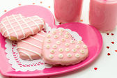 Valentine Decorated Cookies — Stock Photo