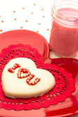 Valentine Decorated Cookies — Stock Photo