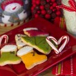 Candy cane heart for Santa — Stock Photo