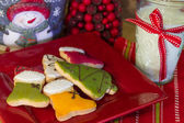 Cookies for Santa in Red — Stok fotoğraf