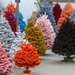 Flocked Christmas Trees — Stock Photo #33814795