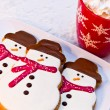 Snowman Cookies — Stock Photo #33815333