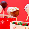 Holiday Cake Pops — Stock Photo