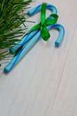 Blue Candy Canes — Stock Photo