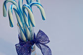 Blue Candy Canes — Foto Stock