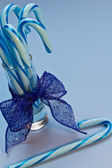 Blue Candy Canes — Stockfoto