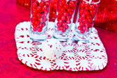 Candy Cane Cake Pops — Foto Stock