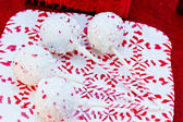 Candy Cane Cake Pops — Stock Photo