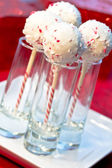 Candy cane taart Pop 's — Stockfoto