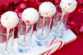 Candy Cane Cake Pops — Stockfoto