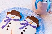 Snowman Cookies — Stock Photo