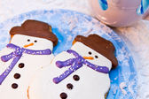 Snowman Cookies — Stock Photo