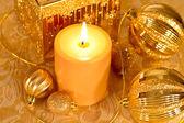 金色亮片圣诞 — 图库照片