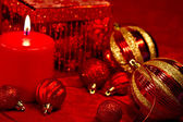 Red Glitter Christmas — Stock Photo